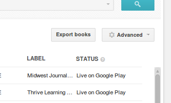 "On Book Catalog, click the ""Export Books"" button"