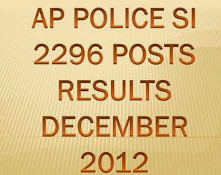 Check AP State Police SI 2296 Posts Results 2013 at www.apstatepolice.org