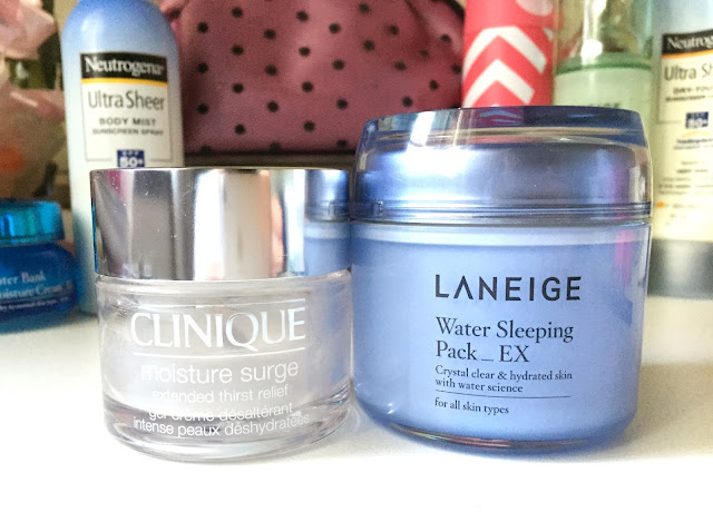 Laneige Water Sleeping Pack vs Clinique Moisture Surge
