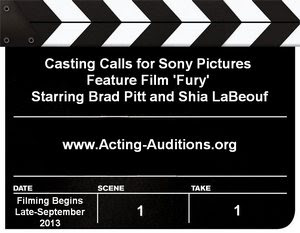 Sony Pictures Fury Casting Calls