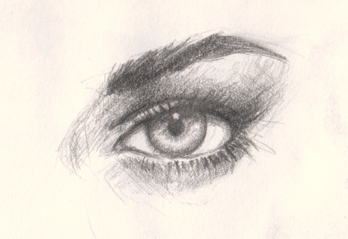 how to draw simple eyes