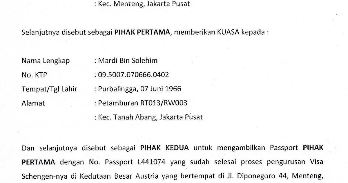 Catatan Iseng Surat Kuasa Pengambilan Passport Di Embassy