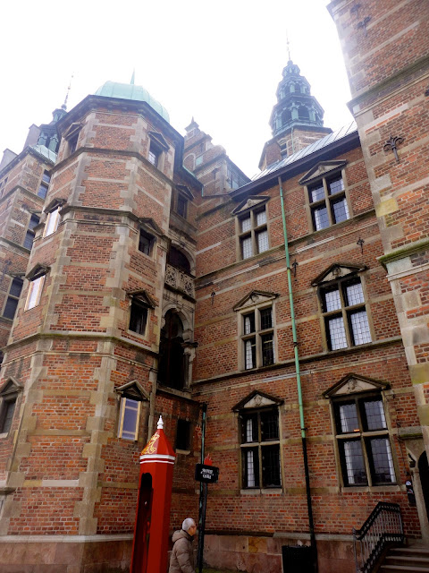 Close up of Rosenborg Castle architecture in Copenhagen, Denmark