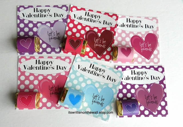 Valentine Cards with a Chocolate treat