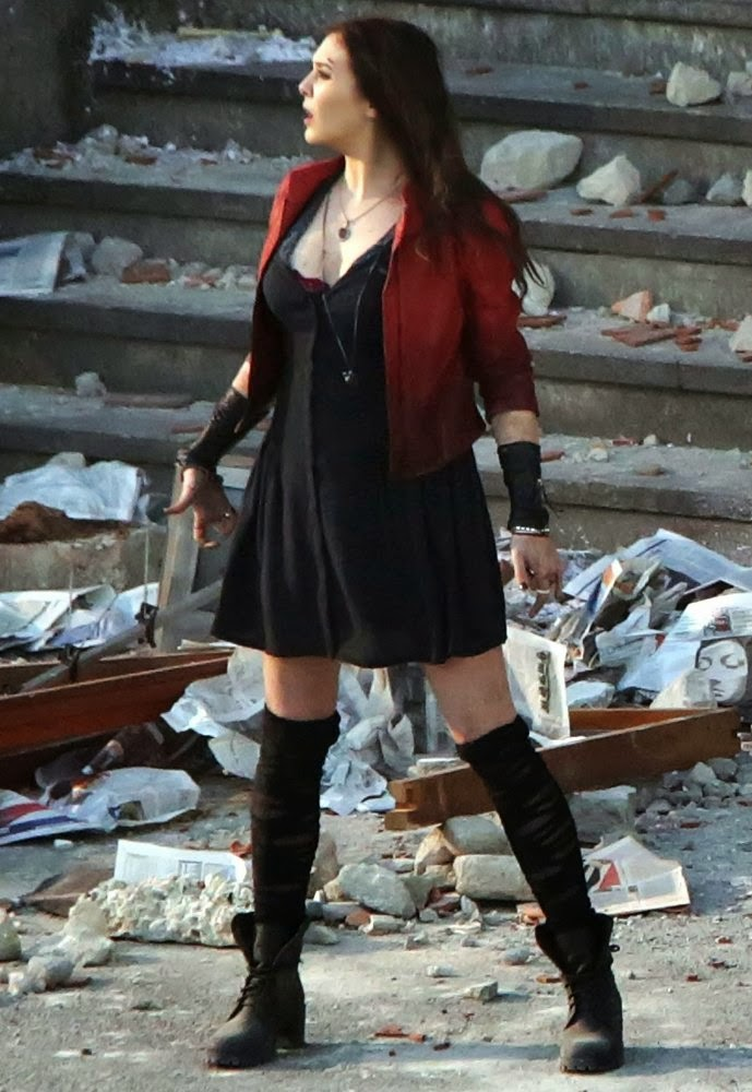 Marvel Cinematic Universe Elizabeth-olsen-filming-on-the-set-of-avengers-age-of-ultron-09
