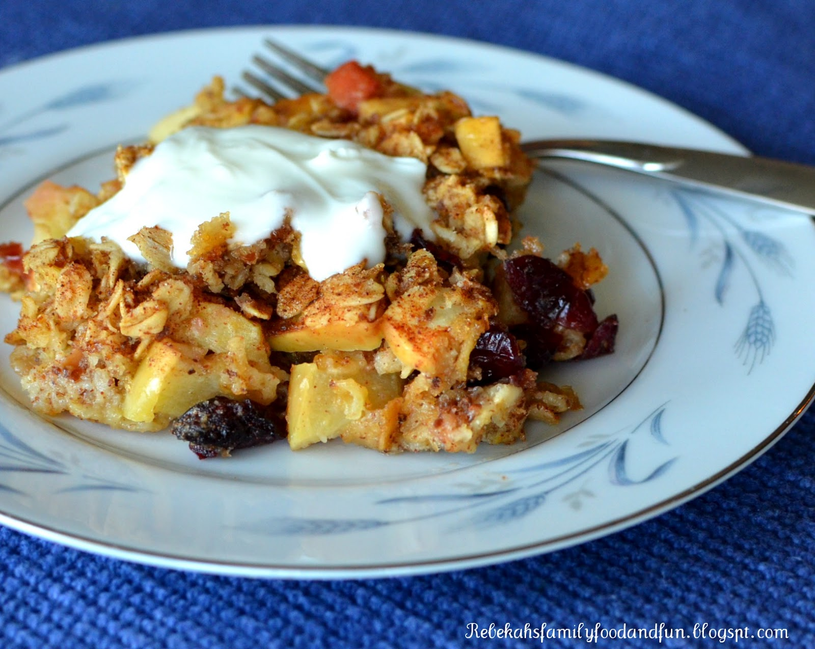Family, Food, and Fun: Apple Cranberry Baked Oatmeal