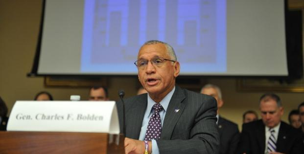 NASA chief Charles Bolden at a House Science, Space, and Technology Committee hearing on 'Threats from Space: A Review of US Government Efforts to Track and Mitigate Asteroids and Meteors' at Capitol Hill in Washington on 19 March. Photo: AFP