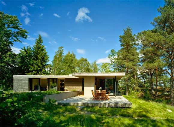 Stockholm archipelago cottage style design with rustic for Cottage style architecture