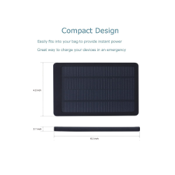 MARSEE(TM)Solar Panel 10000mah Water Resistant Portable Backup Power Bank Dual USB Output, Fits Most Usb-charged Device