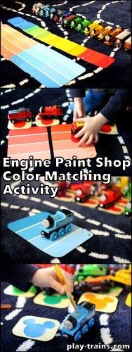 http://play-trains.com/engine-paint-shop-train-color-matching-activity-for-preschoolers/