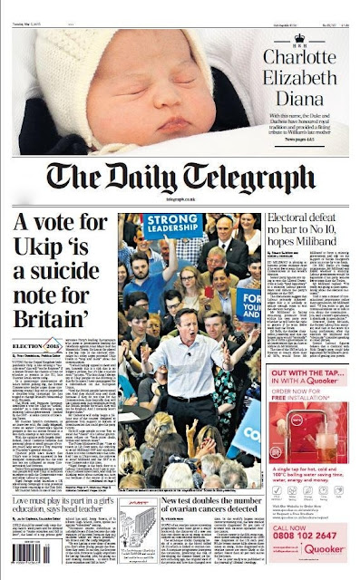 "Britain's newspapers lauded the choice of ""Charlotte Elizabeth Diana"" as the name of the new baby of Prince William and his wife Kate as a tribute to family on Tuesday on May 4, 2015."