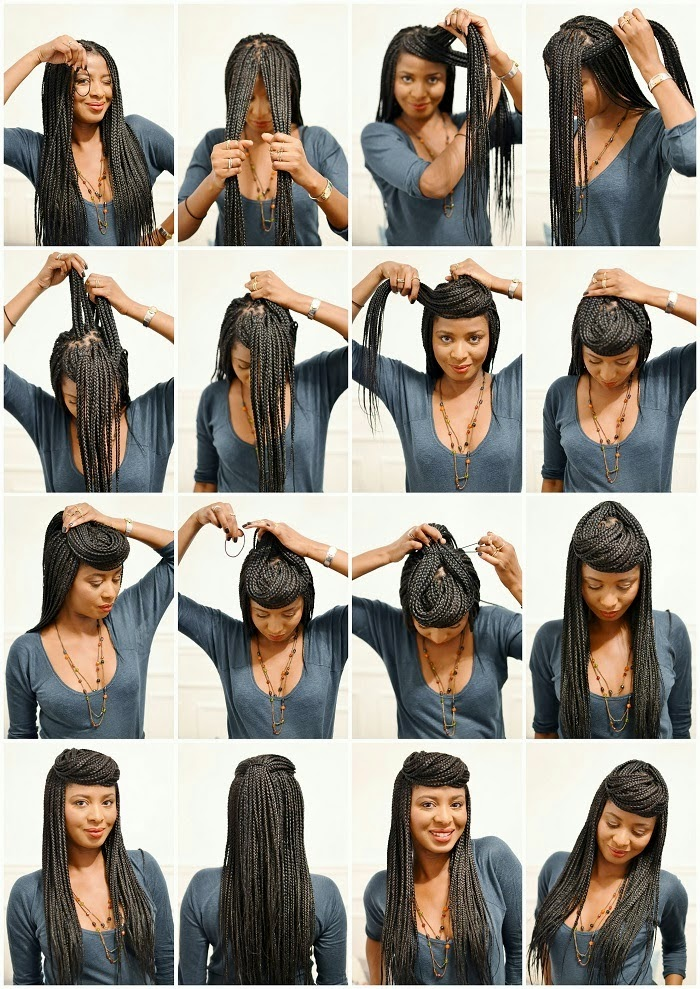 different natural hairstyles : African Naturalistas: How To Style Your Box Braids.
