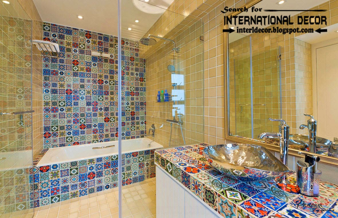 Latest beautiful bathroom tile designs ideas 2017 for Bathroom mosaic design