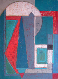Pintura en oleo sobre madera, Cuadro Abstracto obra de ImaPérezAlbert