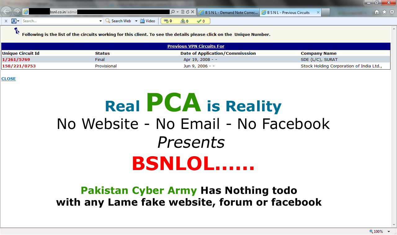 Bsnl System Hacked By Pakistan Cyber Army Users Info At Risk