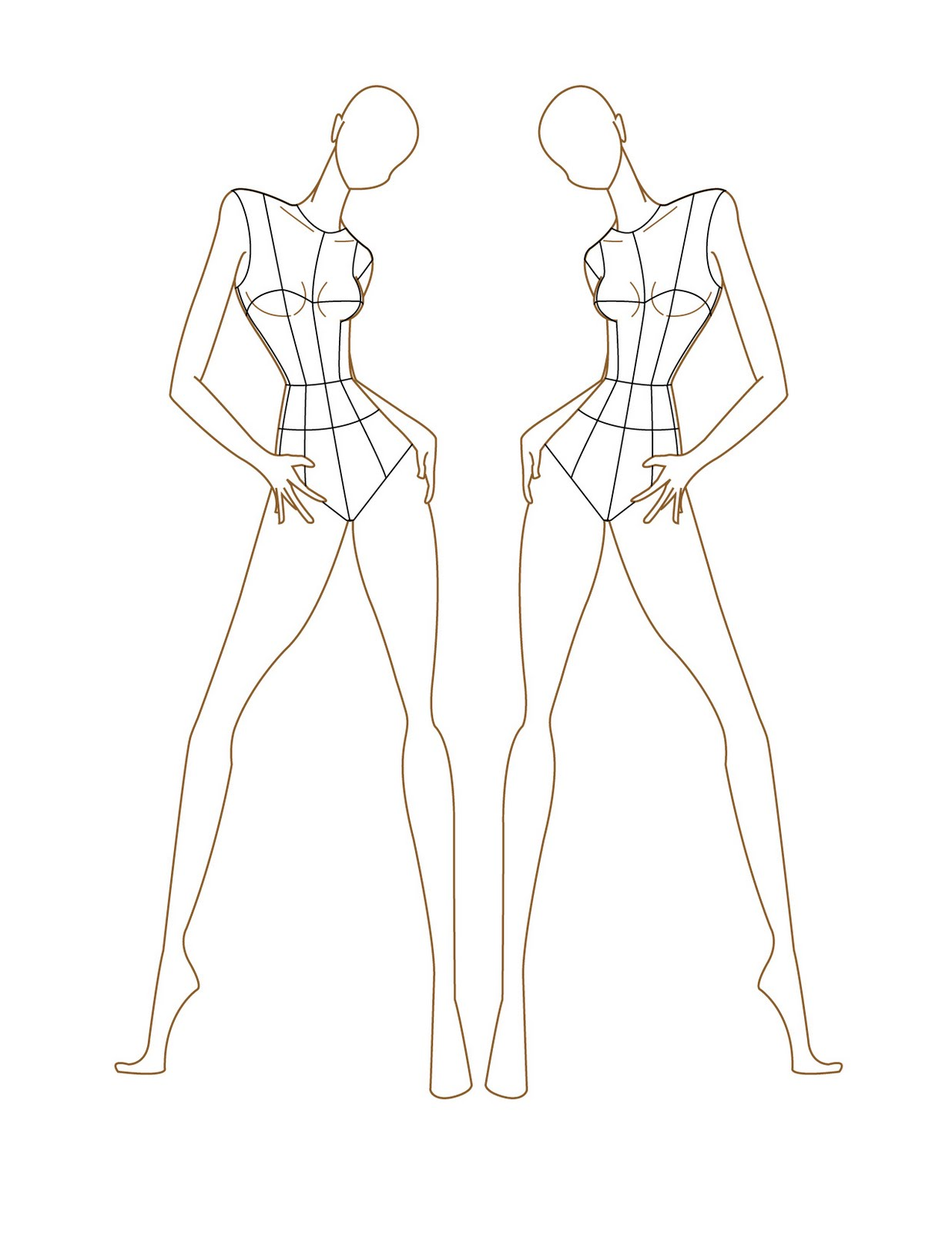Female fashion templates