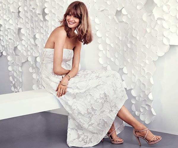 H&M vestido de festa bordado midi