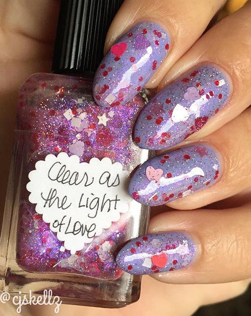 glitter nail art san valentino