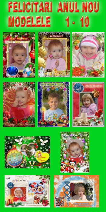 Felicitari  Anul  Nou  -  Modelele  1 - 10