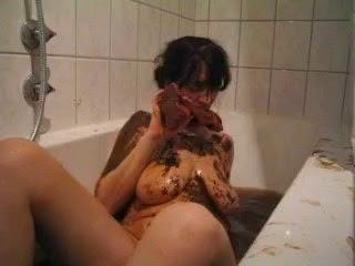 Bath scat Girl takes