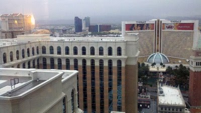 Oma and Opa's View from their Venetian Las Vegas Suite.