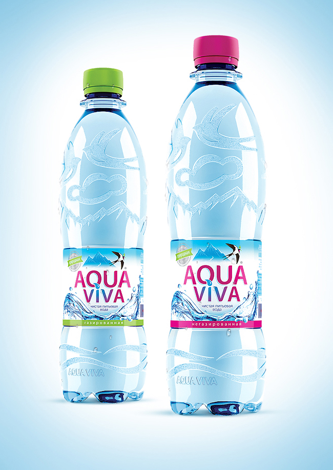 aqua viva on packaging of the world creative package