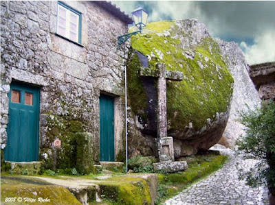 Monsanto Village In Portugal Built Among Rocks Seen On www.coolpicturegallery.us