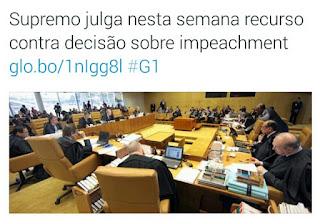 Decisão Jurídica sobre rito do Impeachment deve sair esta semana