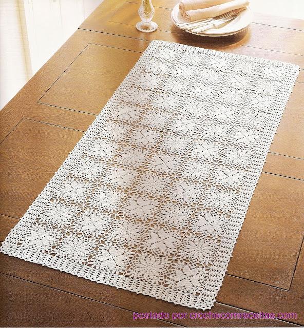 caminhos de mesa em croche em croche com receitas e graficos