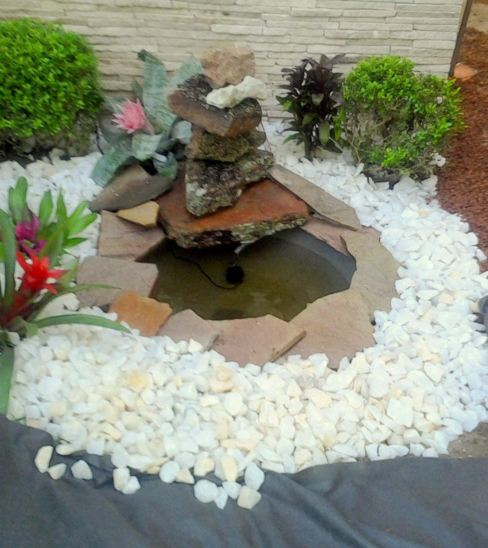 Arte e Paisagismo Passo a passo de fonte de pedras para cantinho Zen
