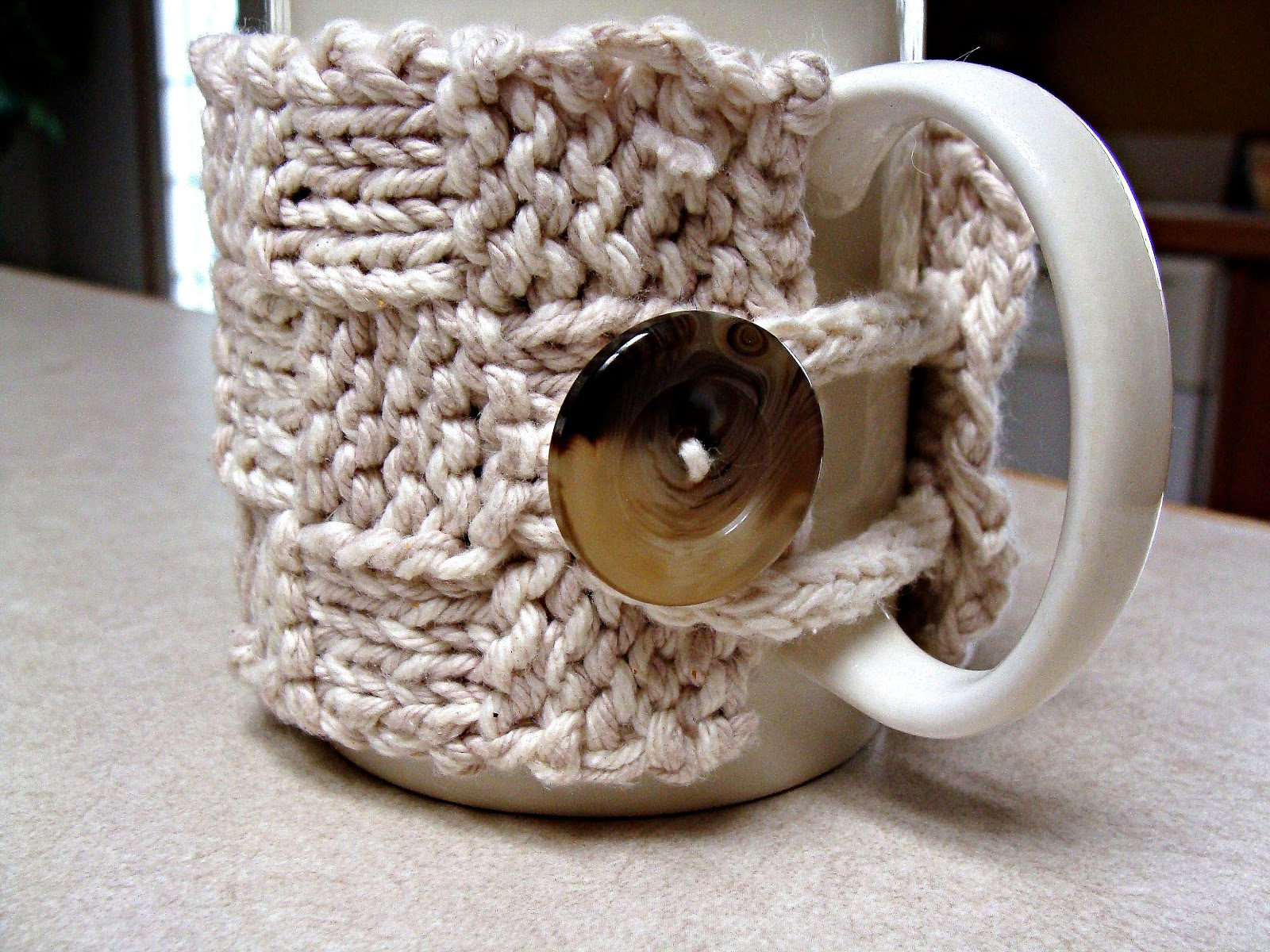 Free Mug Cozy Pattern   Twisted Fibers Designs
