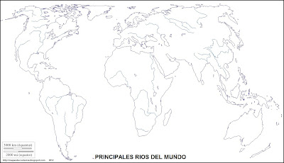 Mapa mudo, principales rios del mundo, mapamundi