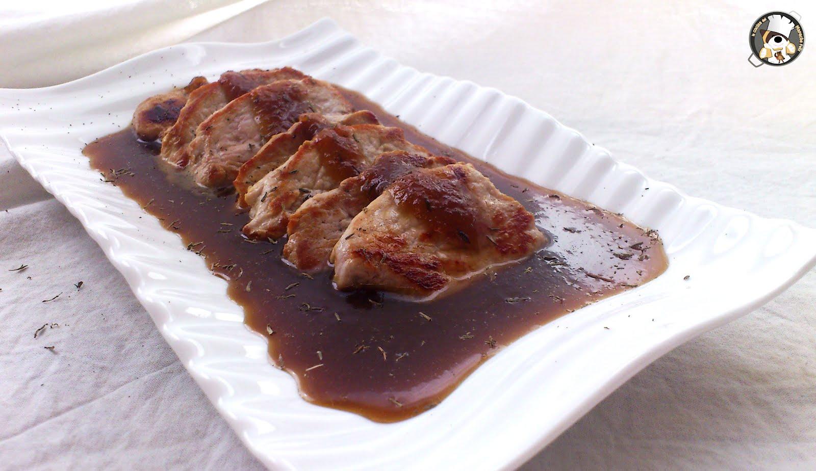 Recetas r pidas solomillo en salsa de miel mostaza y for Salsa para solomillo