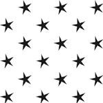 black white star pattern