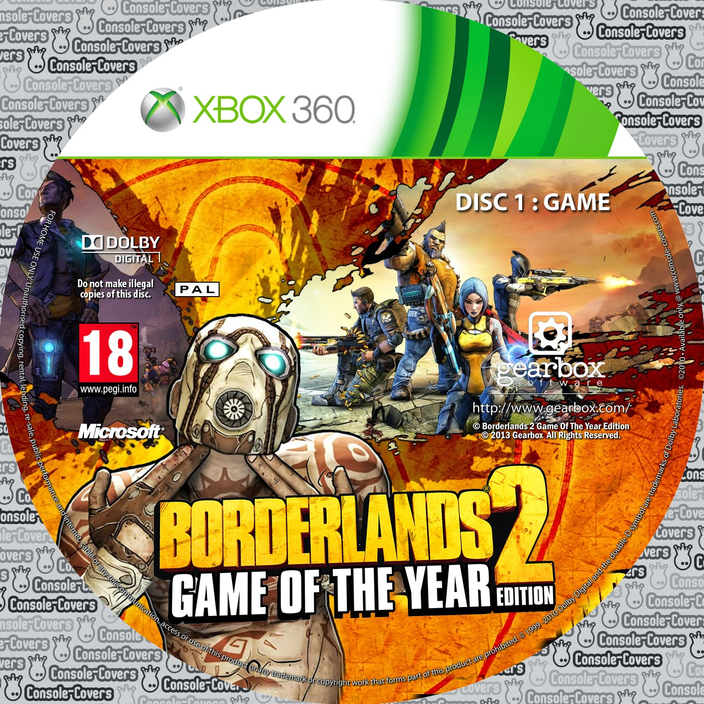 Capa Borderlands 2 Game Of The Year Edition XBOX 360