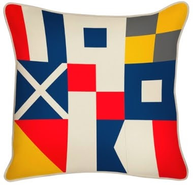 nautical flag pillow