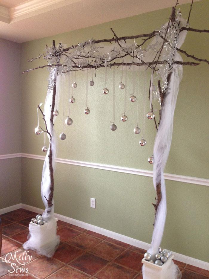 Winter Wedding on a Budget - DIY Backdrop Tutorial - Melly Sews