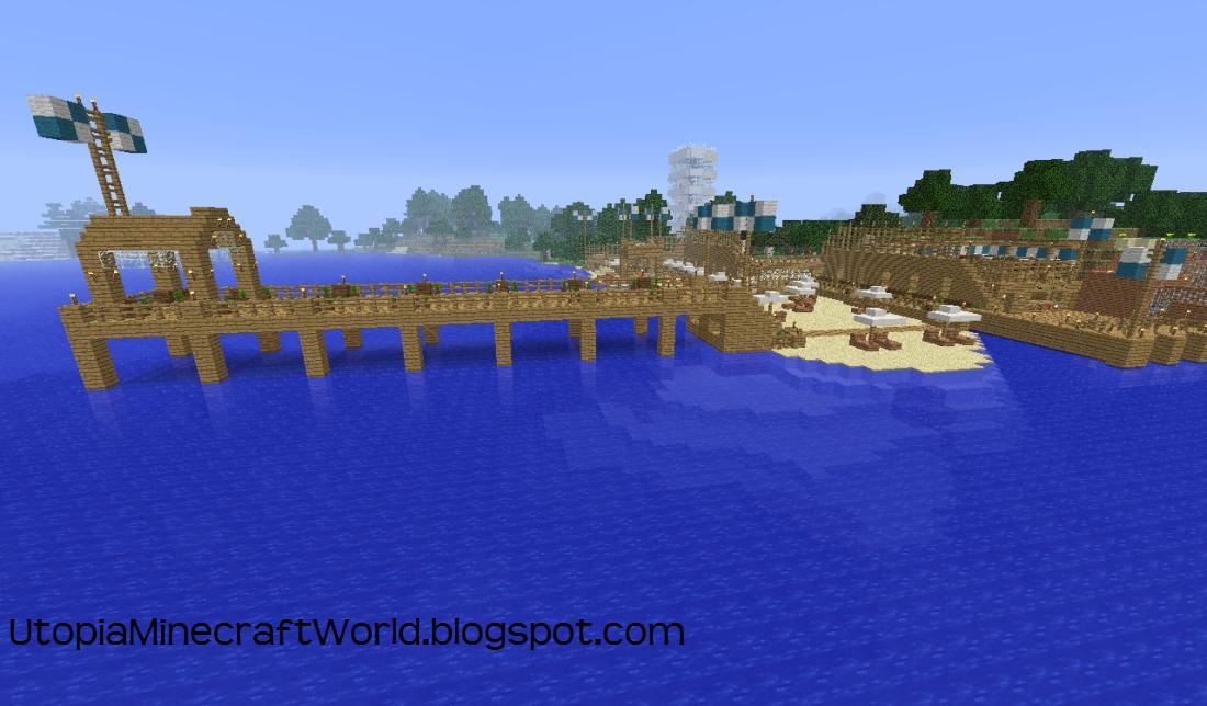 minecraft fishing dock