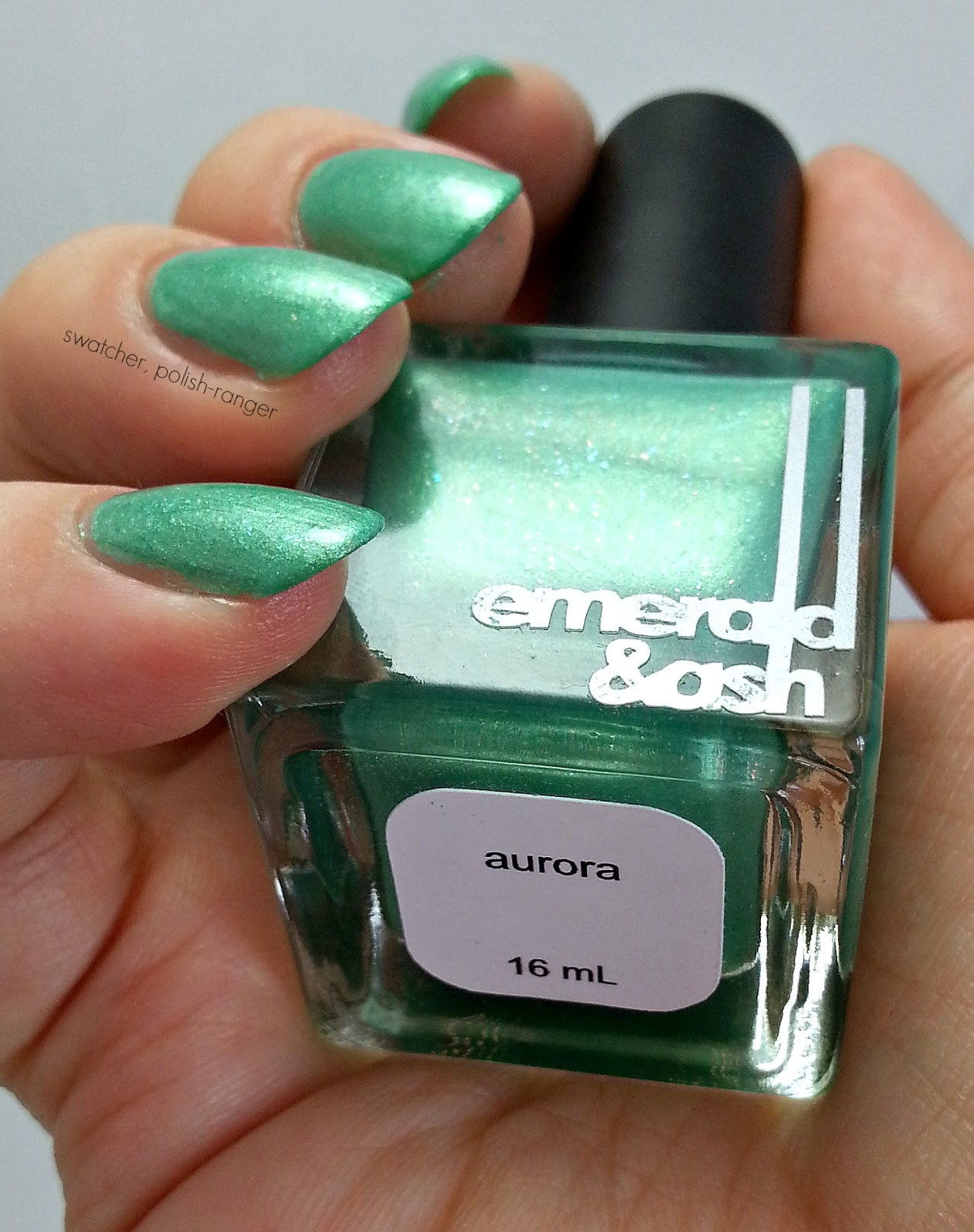 Emerald & Ash Aurora swatch