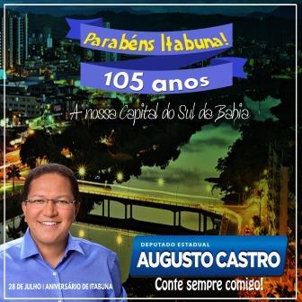 MENSAGEM DO DEPUTADO AUGUSTO CASTRO