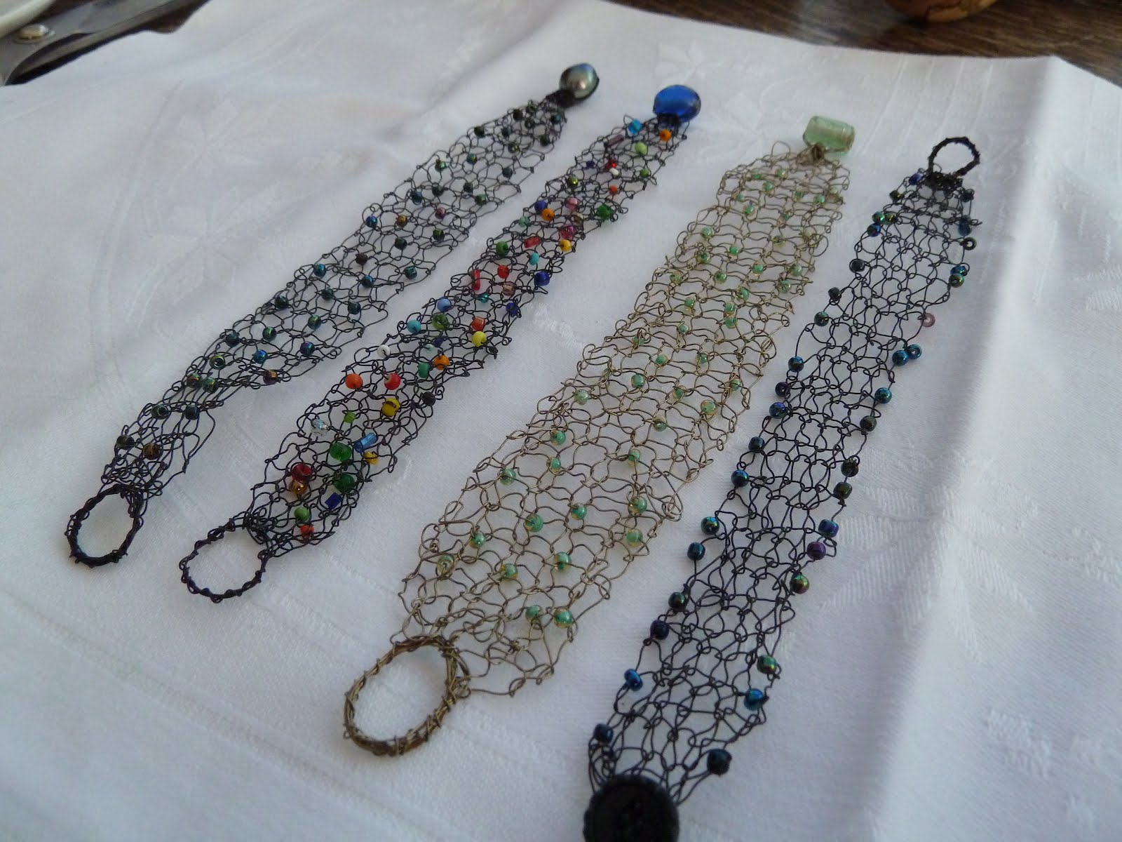 Knitting With Wire And Beads : Judi knits and sews knitting with wire beads