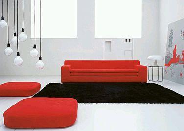 Muebles de sala rojos for Muebles rojo