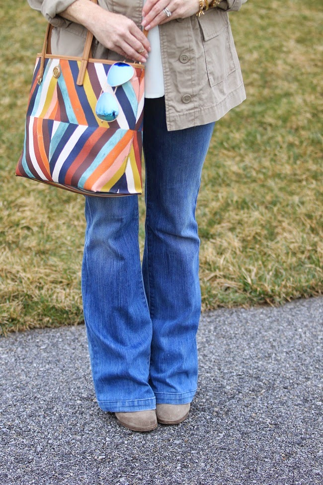 tory burch handbag, goldsign jeans, jcrew booties