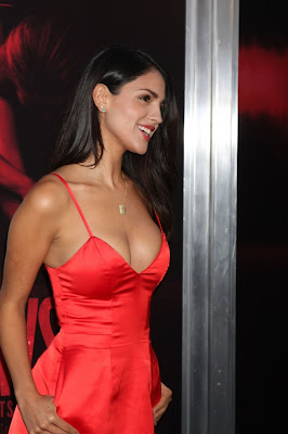 Eiza Gonzalez in Red Dress at The Gallows Premiere in LA