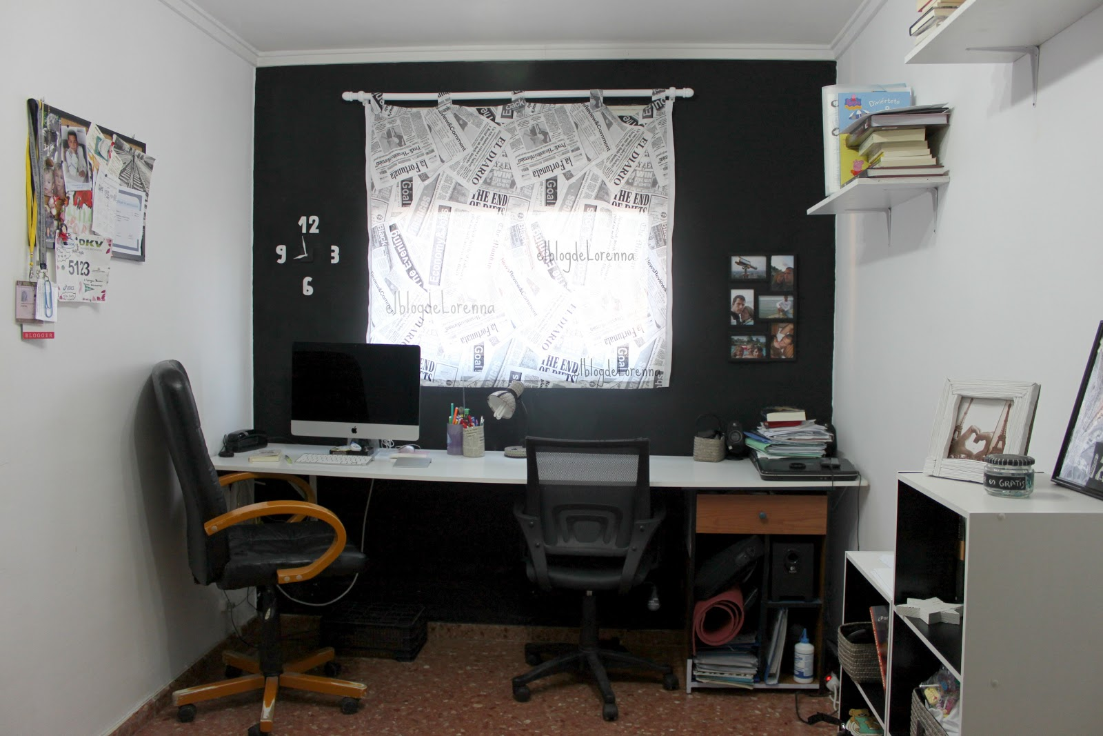 El blog de lorenna despacho en blanco y negro for Como disenar un despacho