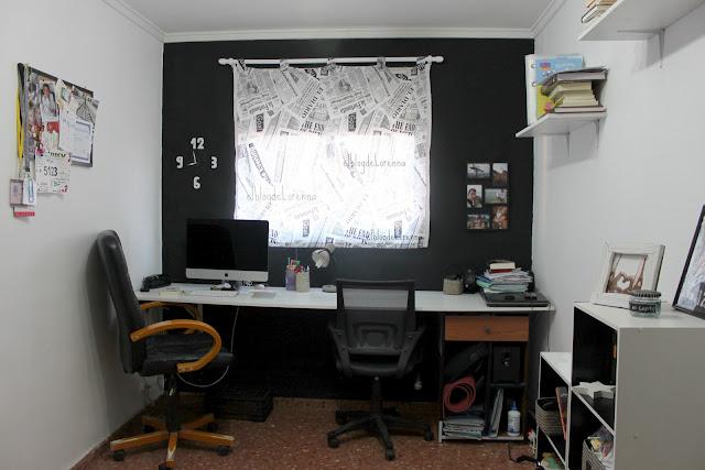 El blog de lorenna despacho en blanco y negro - Despacho en casa ...