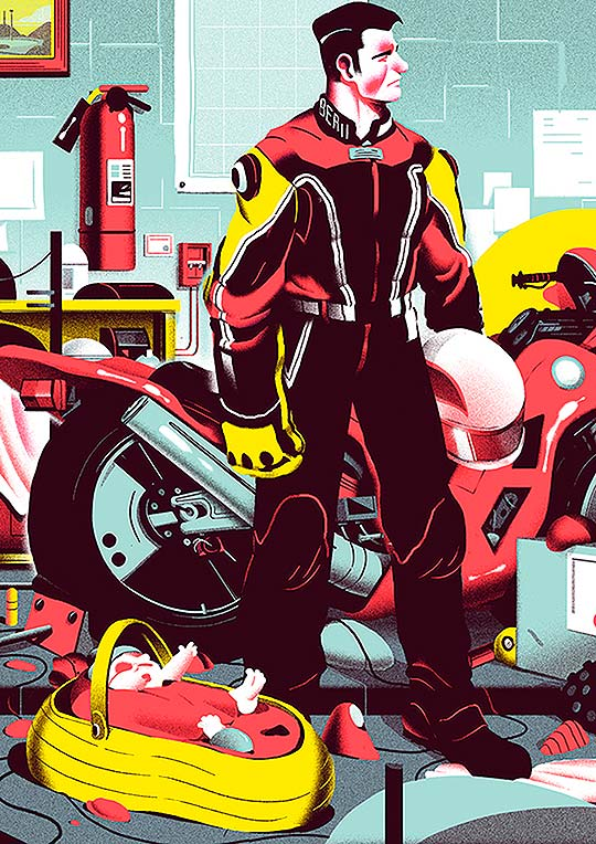 Destacado. Ilustración y animación de Nicolas Dehghani