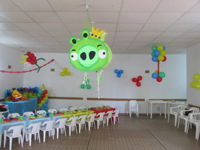 Decoraciónes para fiestas infantiles de Angry Birds - Imagui