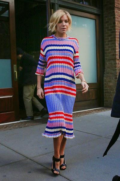 Celebrity Street Style: Sienna Miller in New York