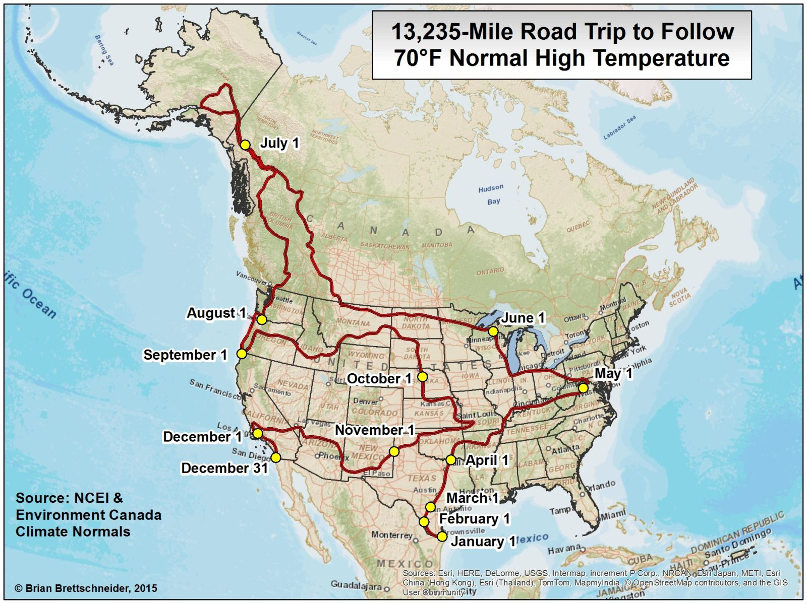 Brian Bs Climate Blog F Road Trip - Map of north america climate